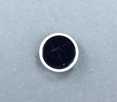 Guzik nr 19b: granatowo-biały 15mm (3523)