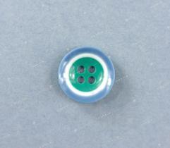 Guzik nr 18f: niebiesko-zielony 15mm (3519)