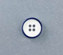 Guzik nr 20: biało-granatowy 15mm (3524)
