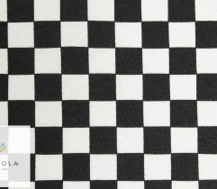 Bawełna T-shirt kratka czarno biała