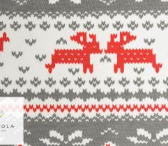 Bawełna T-shirt świąteczne renifery szary