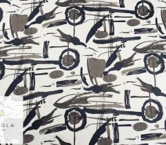 Tkanina bawełna satyna - wzór odcienie szarości