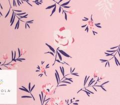 Barbie marchiano wiśniowe kwiaty na różowym