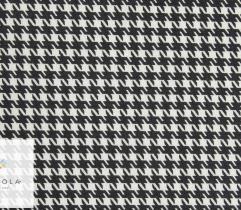 Bawełna T-shirt pepitka biało-czarna