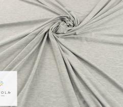 Dzianina bawełna z elastanem - jasno szary melanż