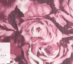 Tkanina szyfon - kwiaty w odcieniach różu