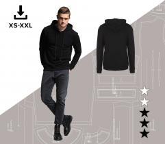 Wykrój bluzy Piotrek XS-XXL Plik A4