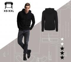 Wykrój bluzy Piotrek XS-XXL wydruk wielkoformatowy