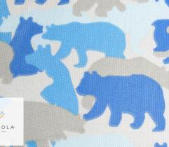 Tkanina bawełniana - misie niebieskie