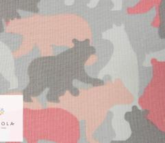 Tkanina bawełniana - misie różowe