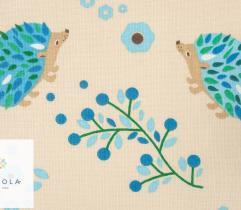 Tkanina bawełniana - jeżyki beżowe