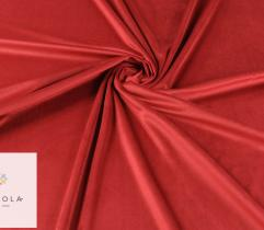 Upholstery knitted fabrics Velour – Red