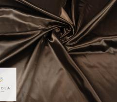 Tkanina dekoracyjna atłasowa - ciemny brąz