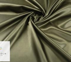Tkanina dekoracyjna atłasowa - oliwka