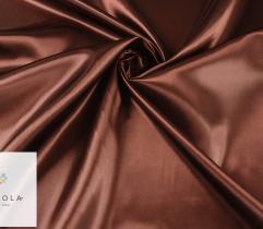 Tkanina dekoracyjna atłasowa - brązowy