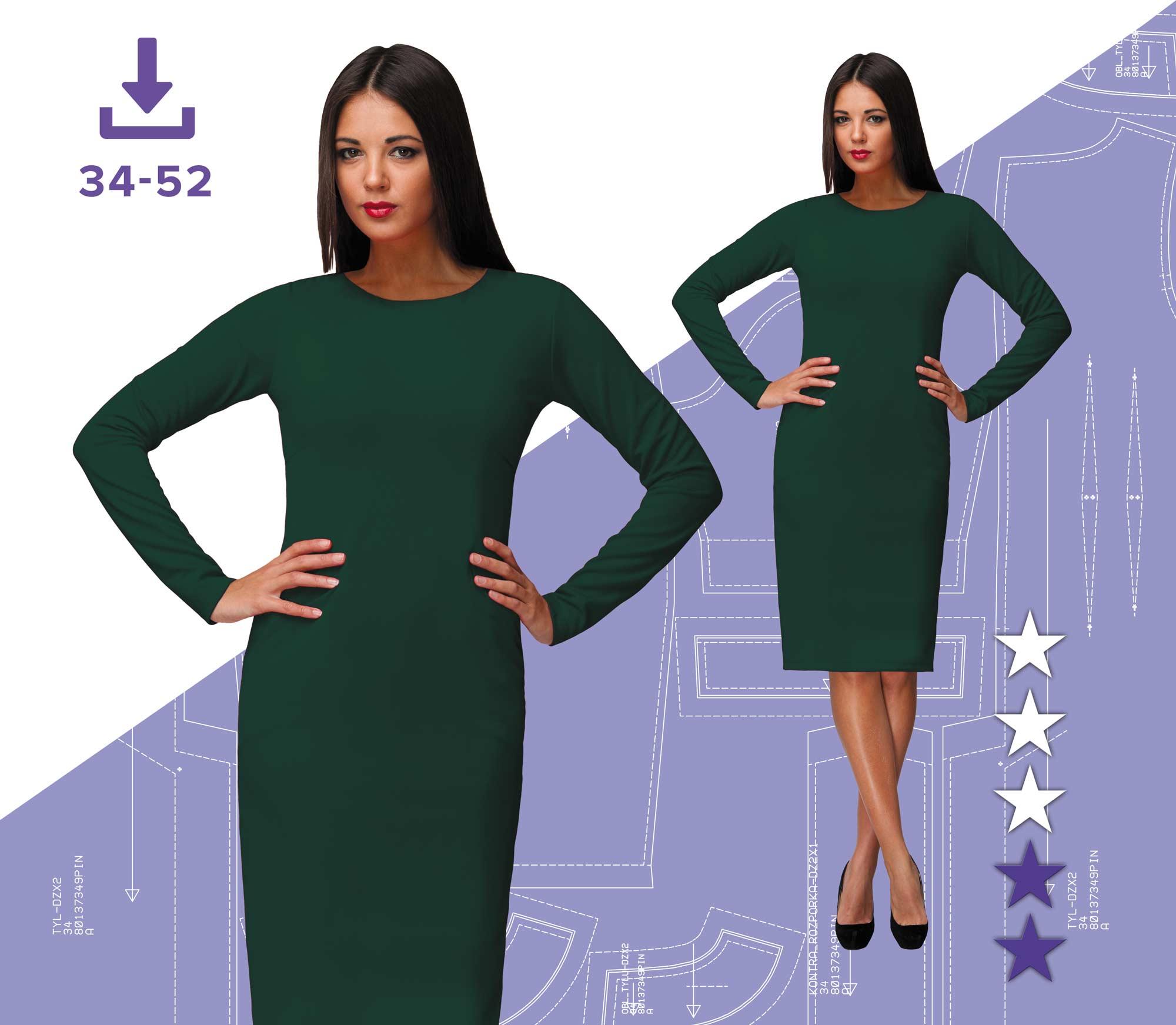 d87acb61 Sukienka Małgosia 34-52 Plik A4 | Pinsola