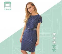 Wykrój sukienki Marta 34-46 wydruk wielkoformatowy