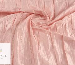 Tkanina tafta kreszowana - różowa