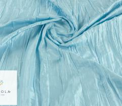 Tkanina tafta kreszowana - błękitna