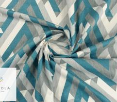 Dzianina tapicerska welur - wzór geometryczny