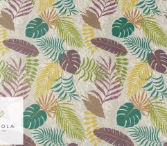 Dzianina tapicerska welur - tropikalne liście