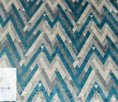 Dzianina tapicerska welur połysk - wzór geometryczny
