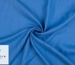 Tkanina lniana - niebieska