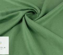 Tkanina lniana - zielona
