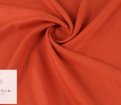 Woven linen fabric – dark orange