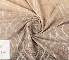 Tkanina dekoracyjna - ornament na złotym