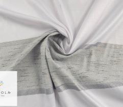 Tkanina dekoracyjna - białe i szare pasy