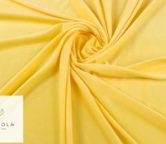 Dzianina Velvet gładki - jasno żółty