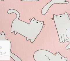 Tkanina pościelowa - kot Filemon