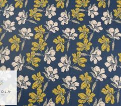 Woven Fabric Barbie – yellow flowers on navy