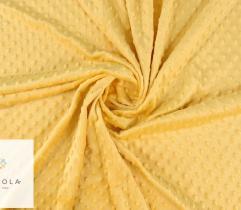 Dzianina Minky - żółty