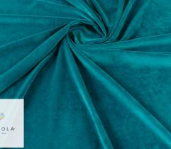 Knitted Fabric Velvet Nicki – emerald green