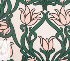 Woven Satin Fabric – floral ornament