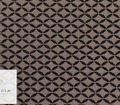Twill weave fabric – black and beige pattern