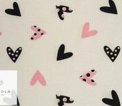 Fragrant knitted fabric Viscose – hearts