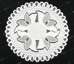 Serwetka 30cm liście - biała