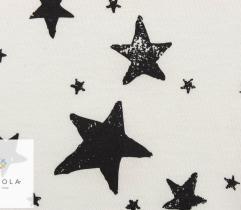 Bawełna T-shirt - gwiazdki czarne