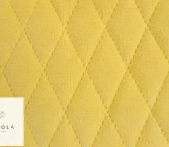 Knitted fabric Velvet quilted - light yellow