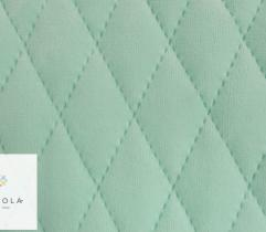 Knitted fabric Velvet quilted – mint green