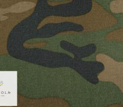 Woven Fabric camouflage - moro green