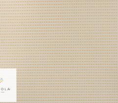 Tkanina ogrodowa – ecru w złote kropki