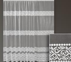 Metric lace curtain - leaf pattern 250 cm