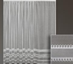 Metric lace curtain – silver stripes 250 cm