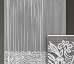 Firana metrażowa - liście i kwiaty 250 cm