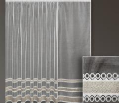 Metric lace curtain – gold stripes 250 cm