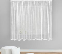 Metric lace curtain - dots pattern 250 cm